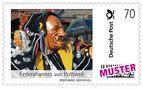 Briefmarke Fasnet Rottweil Federahannes